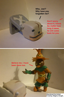 artist:smash3dsplayer2 clay game:cubivore majora's_mask piggy_duane skull_kid streamer:joel // 778x1176 // 222.8KB