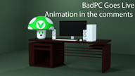 3d animation artist:smellyfeetyouhave bad_pc streamer:vinny vinesauce vineshroom // 1280x720 // 380.7KB