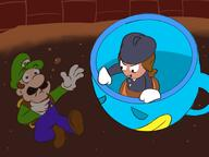 GAME:Luigi_Doesn't_Drink_A_Glass_of_Milk artist:juvland bean luigi streamer:vinny // 2048x1536 // 154.1KB