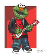 artist:somerepulsiveimp elmo emo guitar red_vox streamer:vinny traditional watercolor // 1515x1744 // 3.7MB