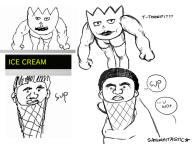 artist:samuraitastic game_and_wario ice_cream miiverse_sketch muscles pokemon streamer:vinny togepi // 700x525 // 73.8KB