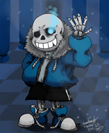 artist:bfox game:undertale sans streamer:joel // 900x1100 // 685.6KB