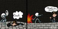 artist:salmiakki comic game:spelunky_2 skeleton streamer:vinny // 1964x994 // 147.1KB