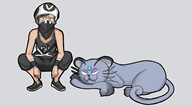 artist:roflman game:pokemon game:pokemon_sun_and_moon persian streamer:vinny team_skull // 1366x768 // 469.5KB