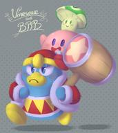 artist:LogicalLoony brb game:kirby_64 king_dedede kirby streamer:vinny vineshroom // 865x970 // 550.5KB