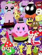 animal_crossing bomberman boo collage crash_bandicoot crossover game:pokemon isaac mario mega_man megaman mr_dink mushroom navi pac-man pikachu pikmin scoot sonic_the_hedgehog squirtle streamer:vinny tingle yoshi // 1568x2052 // 1.5MB