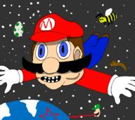 artist:Majestur game:super_mario_galaxy meat speed_luigi streamer:vinny yoshi // 900x800 // 197.9KB