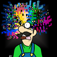 artist:anniemae corruptions game:punch_out getting_weird_with_it luigi streamer:vinny // 1000x1000 // 457.9KB