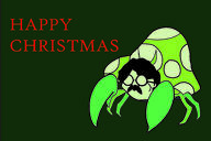 artist:ivanlyy christmas game:pokemon john_lennon parasect streamer:vinny vineshroom // 2500x1667 // 1.6MB