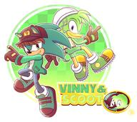 artist:goldrubyproduction game:sonic_the_hedgehog_3_&_knuckles scoot sonic_the_hedgehog streamer:vinny vinny_the_hedgehog // 1830x1630 // 1.2MB