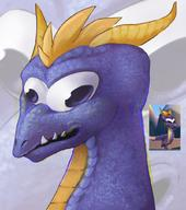artist:noxmateri corruptions game:spyro_the_dragon spyro streamer:vinny // 900x1018 // 1.7MB