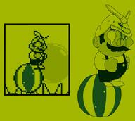 artist:DeadLime corruptions game:super_mario_land_2 mario streamer:vinny // 814x731 // 164.5KB