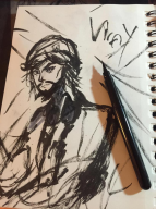 black_and_white fox game:metal_gear_solid_peace_walker streamer:vinny vinesauce // 734x979 // 123.5KB