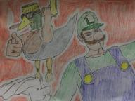 artist:SomeAHoleOnTwitch duck game:3d_movie_maker luigi streamer:joel // 768x576 // 68.6KB
