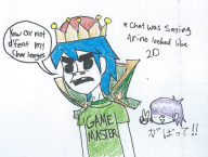 artist:exfighter game:game_center_cx_2 gorillaz paper_drawing // 485x368 // 89.2KB