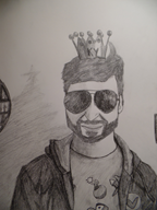 captaintechnicality(artist) christmas crown face portrait sketch streamer:ky sunglasses // 648x864 // 1012.7KB