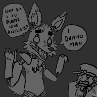 artist:faysethecat fox game:five_nights_at_freddy's streamer:vinny // 500x500 // 21.6KB