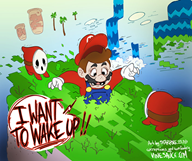 artist:starpoke charity_stream_2016 corruptions game:super_mario_bros_2 mario shy_guy streamer:vinny // 832x700 // 212.3KB