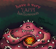 Halloween artist:cantaloupe game:eternal_darkness mantorok pumpkin streamer:vinny yappi // 758x674 // 371.3KB