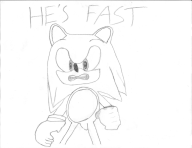Game:Sonic_Adventure_2 artist:ironwaffled monochrome sketch sonic streamer:imakuni // 1294x1000 // 130.3KB