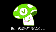animated artist:miknute brb cute dancing vinesauce vineshroom // 800x450 // 593.3KB