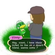 artist:kirbygum game:animal_crossing scoot streamer:vinny // 500x500 // 234.3KB