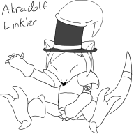 abra adolf_hitler artist:chinigan link pokemon streamer:vinny // 1000x1000 // 148.3KB