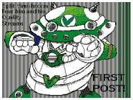 artist:reploid_dynamo first_post flipnote_studio_3d game:mega_man_x4 green green_eyes mega_man streamer:vinny vinesauce vineshroom // 320x240 // 61.4KB