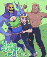 artist:ayanathedork birthday bulk_bogan fren skeletor streamer:joel // 1245x1500 // 2.5MB