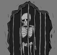 artist:lykal game:skyrim jail skeleton streamer:vinny // 959x915 // 184.4KB