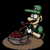 animated artist:AgentRedJackal spaghetti speed_luigi streamer:vinny // 200x200 // 56.4KB
