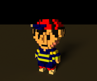 3d artist:captain_punch game:earthbound ness streamer:vinny voxel // 960x800 // 343.6KB