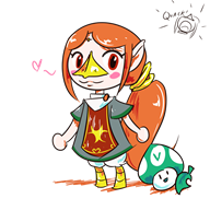 artist:lightdasher game:animal_crossing game:animal_crossing_new_leaf game:legend_of_zelda medli streamer:vinny vinesauce vineshroom // 1000x1000 // 264.5KB