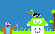 artist:zealotgamer duck_hunt mr_dink pixel_art streamer:vinny // 2157x1347 // 34.4KB