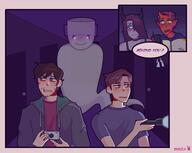 artist:ayiuchaa chat game:Phasmophobia giwi jerma rubberross streamer:vinny // 2500x1994 // 816.9KB