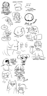 anime artist:samuraitastic bird bubbles butt game_and_wario ghost girl halo kill_la_kill legend_of_zelda link luigi miiverse_sketch owl powerpuff_girls sesame_street sock_monkey streamer:vinny // 693x1408 // 188.7KB