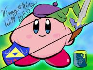 artist:Summertimezz brb game:kirby_super_star kirby link streamer:vinny zelda // 2048x1536 // 3.3MB