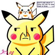 artist:FluffyTowels69 game:pokemon_yellow pikachu streamer:joel // 1000x1000 // 176.6KB