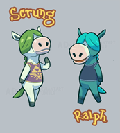 artist:ad-cn game:animal_crossing game:the_legend_of_zelda_breath_of_the_wild horse ralph scrung streamer:vinny // 1200x1331 // 462.6KB