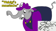 doodle elephant game_and_wario moustache sketch waluigi // 694x384 // 107.5KB