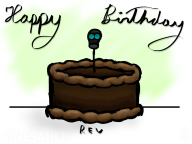 artist:miimii1209 birthday cake chocolate happy_birthday streamer:revscarecrow // 1024x768 // 339.2KB