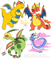 artist:amphibizzy charizard dragonite game:earthbound game:pokemon jeff ness paula poo streamer:vinny // 800x924 // 321.8KB