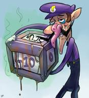 artist:dynamicafro game:super_mario_party streamer:vinny waluigi // 1227x1350 // 1.3MB