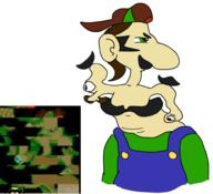 artist:werewhiskey corruptions game:mario's_early_years luigi streamer:vinny terminal_14 // 554x506 // 138.3KB