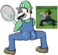 artist:caroose_carootler ass corruptions game:mario_power_tennis luigi streamer:vinny tennis // 1946x1822 // 1.3MB