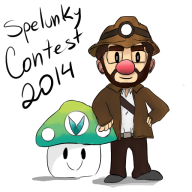 artist:ghoulee game:spelunky spelunky_contest_2014 streamer:ky vineshroom // 512x512 // 129.4KB