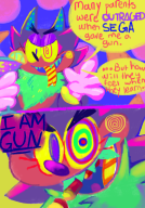 artist:cinnapepper comic game:glitch-life gun half_life shadow shadow_the_hedgehog sonic streamer:vinny // 700x1000 // 759.0KB