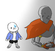 artist:chai_the_tea game:super_mario_maker_2 game:undertale papyrus sans streamer:joel // 1775x1676 // 524.1KB