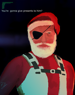 artist:powergannon christmas game:merry_gear_solid:_secret_santa streamer:vinny // 1220x1542 // 519.7KB