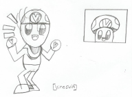 artist:justsomefreeloader mii mii_maker paper_drawing streamer:vinny vineshroom // 864x641 // 96.2KB